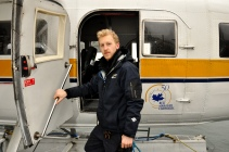 """Lucki, 26, works as a docker for Harbour Air. He wants to be a pilot and moved from London to Vancouver seven months ago. """"I just love to work for Harbour so I can gain experience, make contacts and meet people I'll work in the future,"""" said him on Sunday, Feb. 2, 2013."""