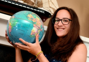 Alysha Bacus, 17, raised U$50,000 over a year to be part of Class Afloat. She'll take courses of her academic study programme while sailing a classic tall ship around the world. Monday, Aug. 12, 2013.