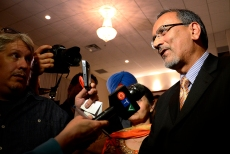 Harry Bains, Surrey MLA, may have won his riding, but he was shocked by the provincial results, Tuesday, May 14, 2013.