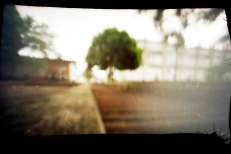 My very first pinhole camera using a matchbox. Maceio, Brazil, Feb. 2010.
