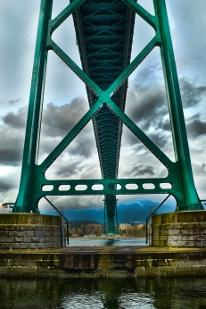 HDR image of the Lionsgate Bridge in Vancouver, B.C. Monday, Apr. 8, 2013.